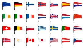 Coleção das bandeiras Foto de Stock Royalty Free