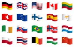 coleção das bandeiras de país 1 Foto de Stock