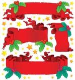 Coleção 6 das bandeiras do Natal Fotos de Stock Royalty Free