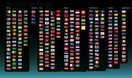 Coleção das bandeiras nacionais Fotos de Stock