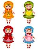 Coleção das bonecas ilustração royalty free