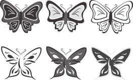 Coleção das borboletas. Ilustração do vetor Foto de Stock Royalty Free