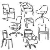 Coleção das cadeiras Foto de Stock