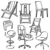 Coleção das cadeiras ilustração do vetor