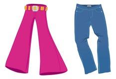 Coleção das calças de brim Fotografia de Stock Royalty Free
