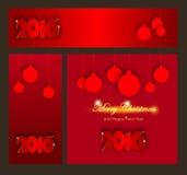 Coleção das celebrações do Feliz Natal e do ano novo feliz ilustração do vetor