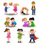Coleção das crianças Ilustração do Vetor