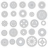 Coleção das engrenagens, isolada Imagens de Stock