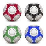 Coleção das esferas de futebol Fotos de Stock
