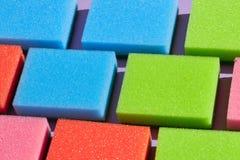 Coleção das esponjas para lavar os pratos imagem de stock