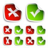 Coleção das etiquetas da marca de verificação Fotografia de Stock Royalty Free