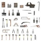Coleção das ferramentas Fotografia de Stock Royalty Free