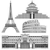 Coleção das ferramentas de desenho ilustração royalty free