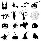 Coleção das formas para Dia das Bruxas Fotos de Stock Royalty Free