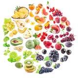 Coleção das frutas fotos de stock