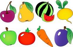 Coleção das frutas e das bagas ilustração royalty free