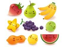 Coleção das frutas e legumes Fotos de Stock