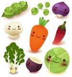 Coleção das frutas e legumes Foto de Stock Royalty Free