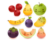 Coleção das frutas e legumes Foto de Stock