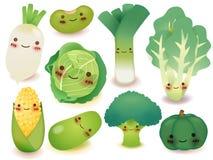 Coleção das frutas e legumes Fotografia de Stock