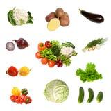 Coleção das frutas e legumes Fotos de Stock Royalty Free