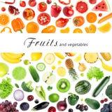 Coleção das frutas e verdura ilustração do vetor