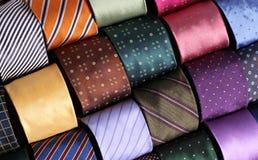 Coleção das gravatas Fotografia de Stock