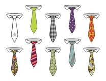 Coleção das gravatas Foto de Stock