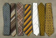 Coleção das gravatas em vários projetos Foto de Stock Royalty Free