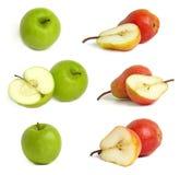 Coleção das maçãs e das peras Imagens de Stock