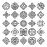 Coleção das mandalas Teste padrão redondo do ornamento Elementos decorativos do vintage Fundo tirado mão Foto de Stock Royalty Free