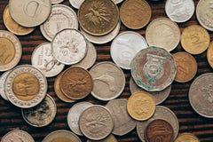 Coleção das moedas Imagem de Stock
