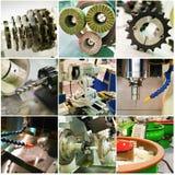 Coleção das peças de funcionamento da máquina Foto de Stock