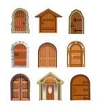 Coleção das portas Ilustração Royalty Free