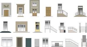 Coleção das portas do vetor ilustração stock