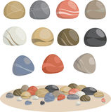 A coleção das rochas Fotos de Stock