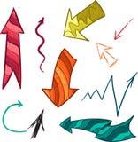 Coleção das setas da cor ilustração stock