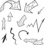 Coleção das setas do vetor ilustração royalty free