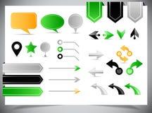 Coleção das setas, dos marcadores e dos ponteiros Imagem de Stock