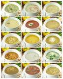 Coleção das sopas Imagem de Stock