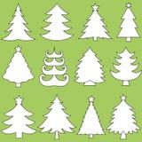 Coleção de árvores de Natal Imagem de Stock Royalty Free