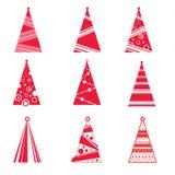 Coleção de árvores de Natal Foto de Stock