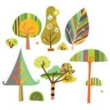 Coleção de árvores decorativas Imagem de Stock Royalty Free
