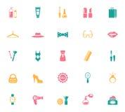 Coleção de ícones da forma e da compra Foto de Stock