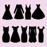 Coleção de ícones da roupa, vestido isolado imagem de stock royalty free