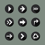 Coleção de ícones da seta Imagens de Stock