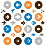Coleção de ícones da seta Imagens de Stock Royalty Free