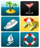 Coleção de ícones do curso Imagem de Stock