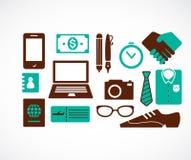 Coleção de ícones do curso de negócio ilustração do vetor