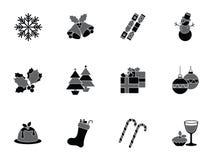 Coleção de ícones do Natal Imagem de Stock Royalty Free